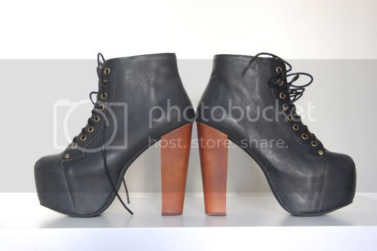 lita,jeffrey campbell,platform shoes,wooden heel,plattform sko