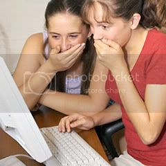 Two Teenage Girls Suprised On the Internet Pictures, Images and Photos